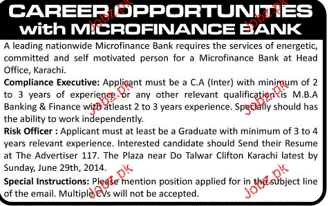 Compliance Executives and Risk Officers Job Opportunity