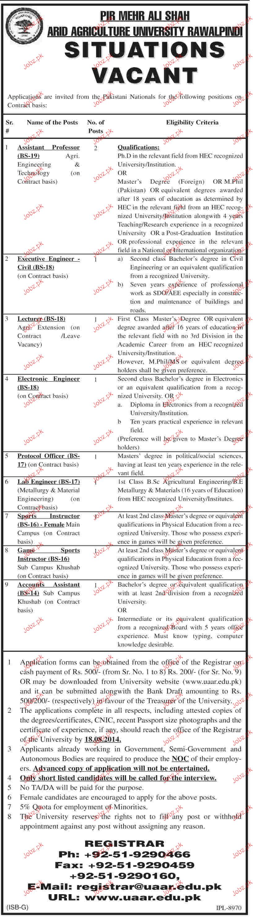 Assistant Professors, Executive Engineers Job Opportunity