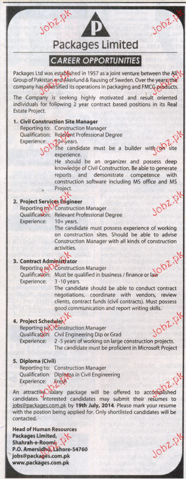 Civil Construction Site Manager Job Opportunity