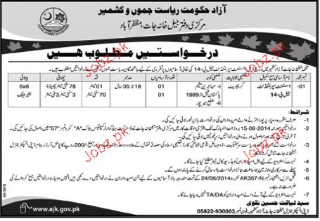 Assistant Superintendent Job in Jail Department in AJK