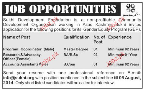 Program Coordinators, Research Officers Officers Wanted