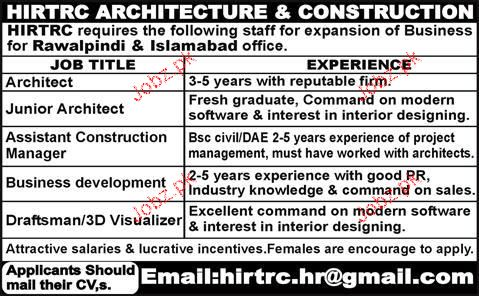 Architects, Junior Architects Job Opportunity