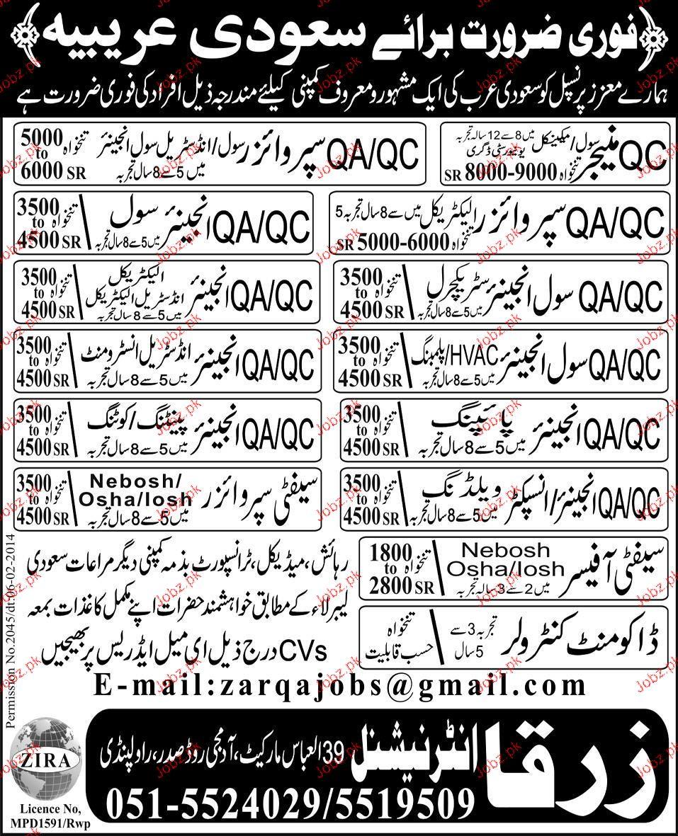 QA Engineer Civil, QC Manager Job Opportunity