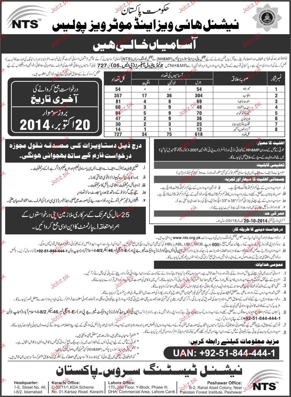 Recruitment of Junior Petrol Officers in Pakistan Motorway