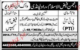 PTIs Job in Anjuman Faiz Ul Islam