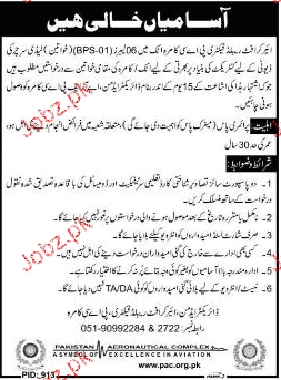 Lady Searchers Job in Aircraft Rebuild Factory PAEC Kamra