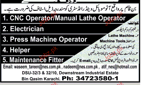 Cnc Operators Electricians Press Machine Operators Wanted 2019 Job