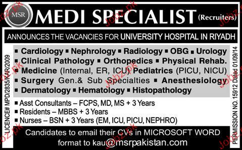 Medical Specialist Job Opportunity