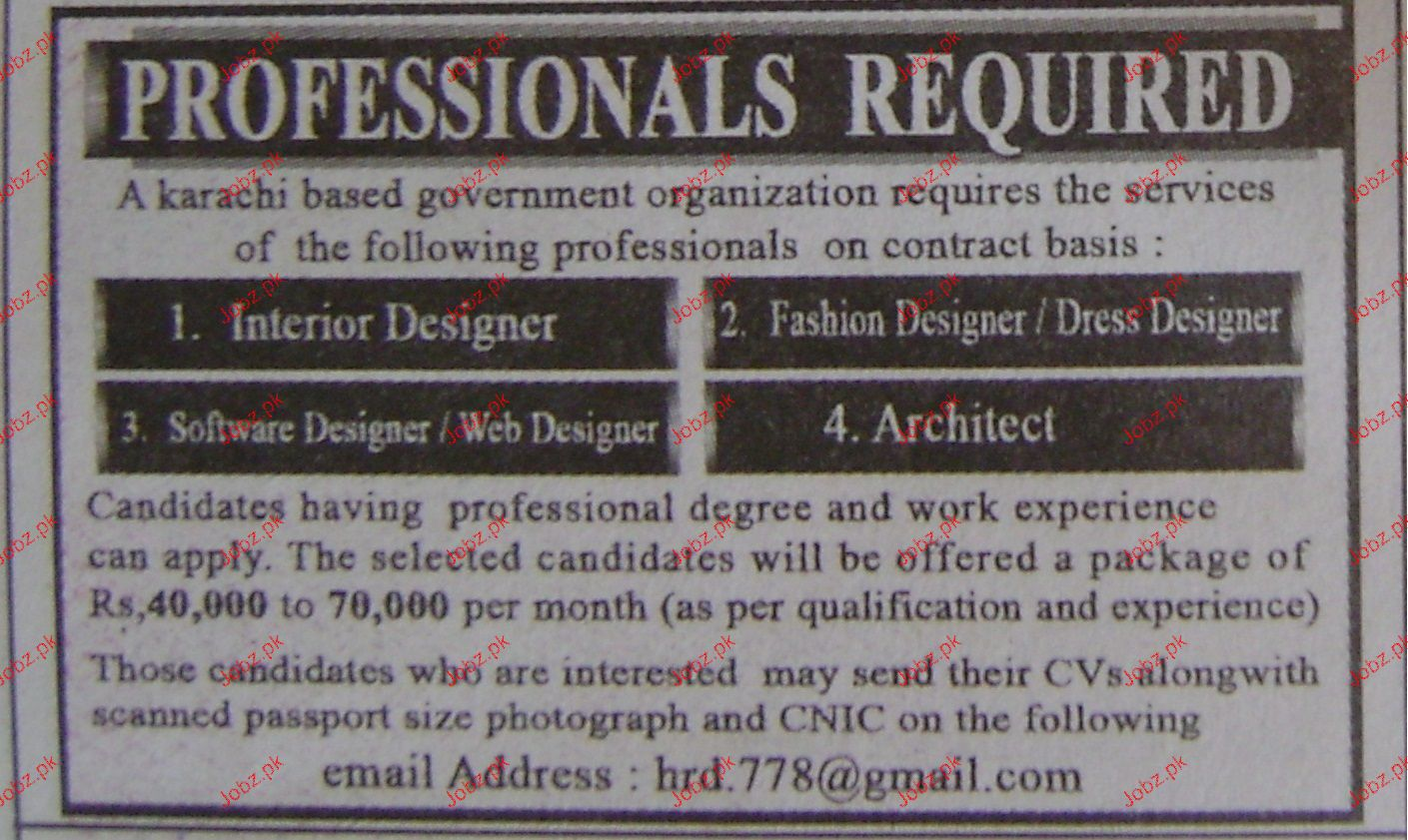 Interior Designers Fashion Job Opportunity