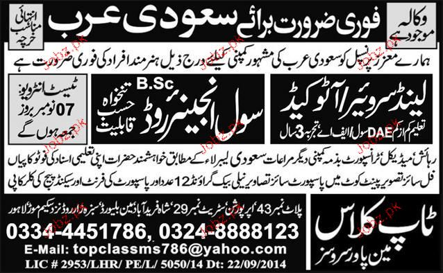 Land Surveyors / Auto cad and Civil Engineer Job Opportunity 2018 ...