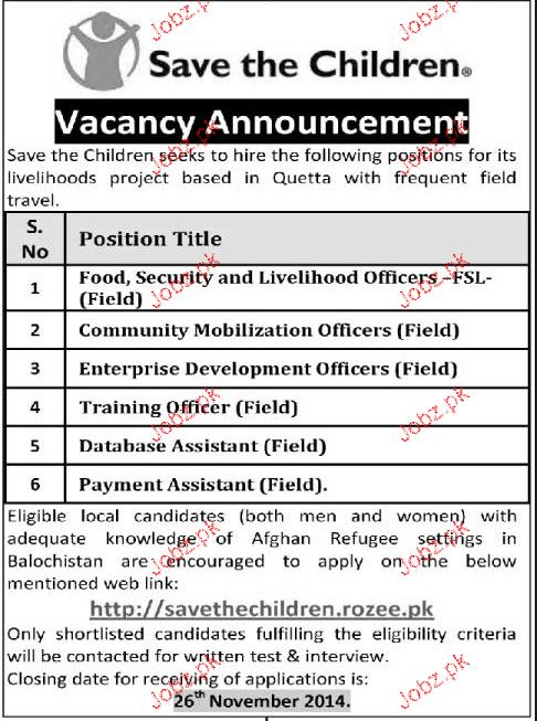 Food, Security & Livelhood Officers, Enterprise Wanted