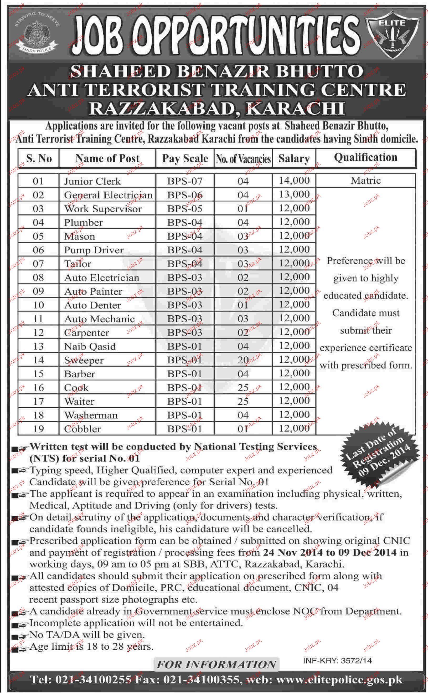 Junior Clerks, General Electricians, Mason Job Opportunity