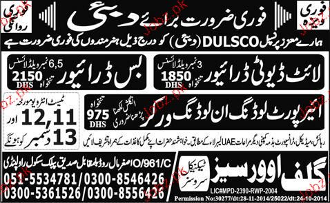 Light Duty Drivers, Bus Drivers Job Opportunity