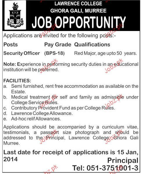 Security Officers Job in Lawerance College
