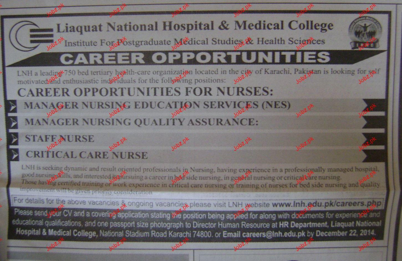 Manager Nursing, Staff Nurses Job opportunity
