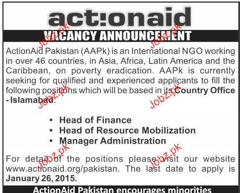 Head of Finance, HR Mobilization Job Opportunity