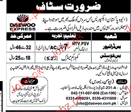 Bus Drivers and Bus Hostess Job Opportunity
