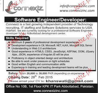 Software Developers / Engineers Job Opportunity