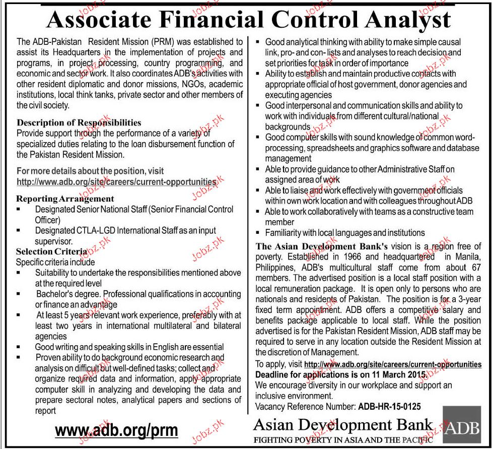 Associate Financial Control Analyst Job Opportunity