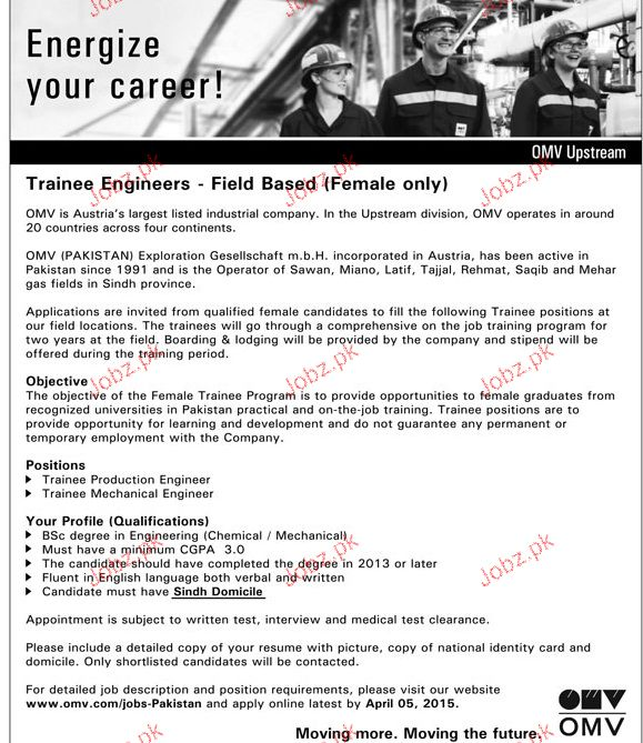 Female Trainee Engineers Job Opportunity  Jobs Pakistan