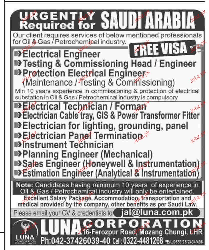 Electrical Technicians, Instrument Technicians Wanted