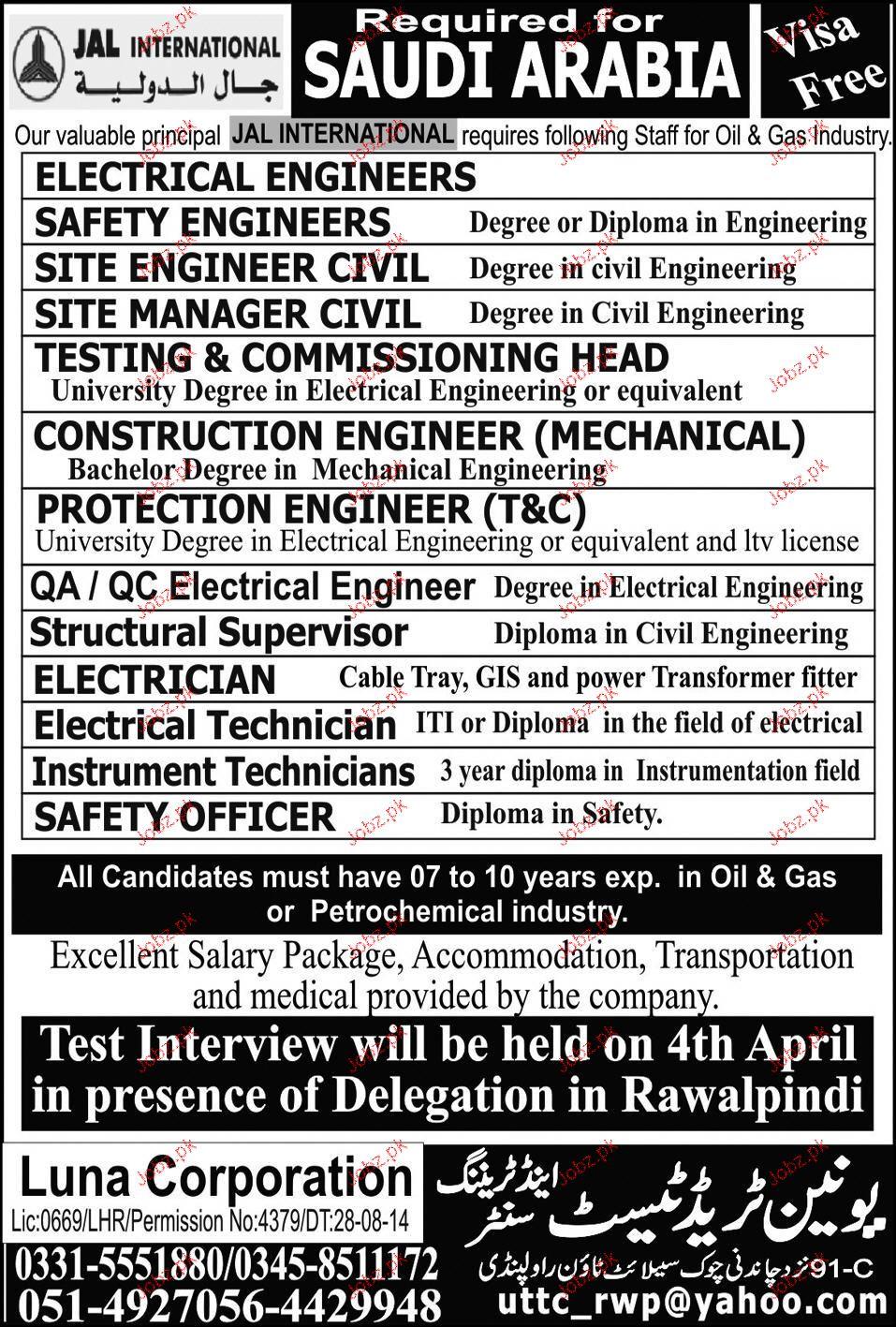 Electrical Engineers, Site Engineer Civil Job Opportunity