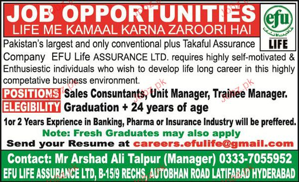 Sales Consultants, Unit Manager, Trainee Manager Wanted