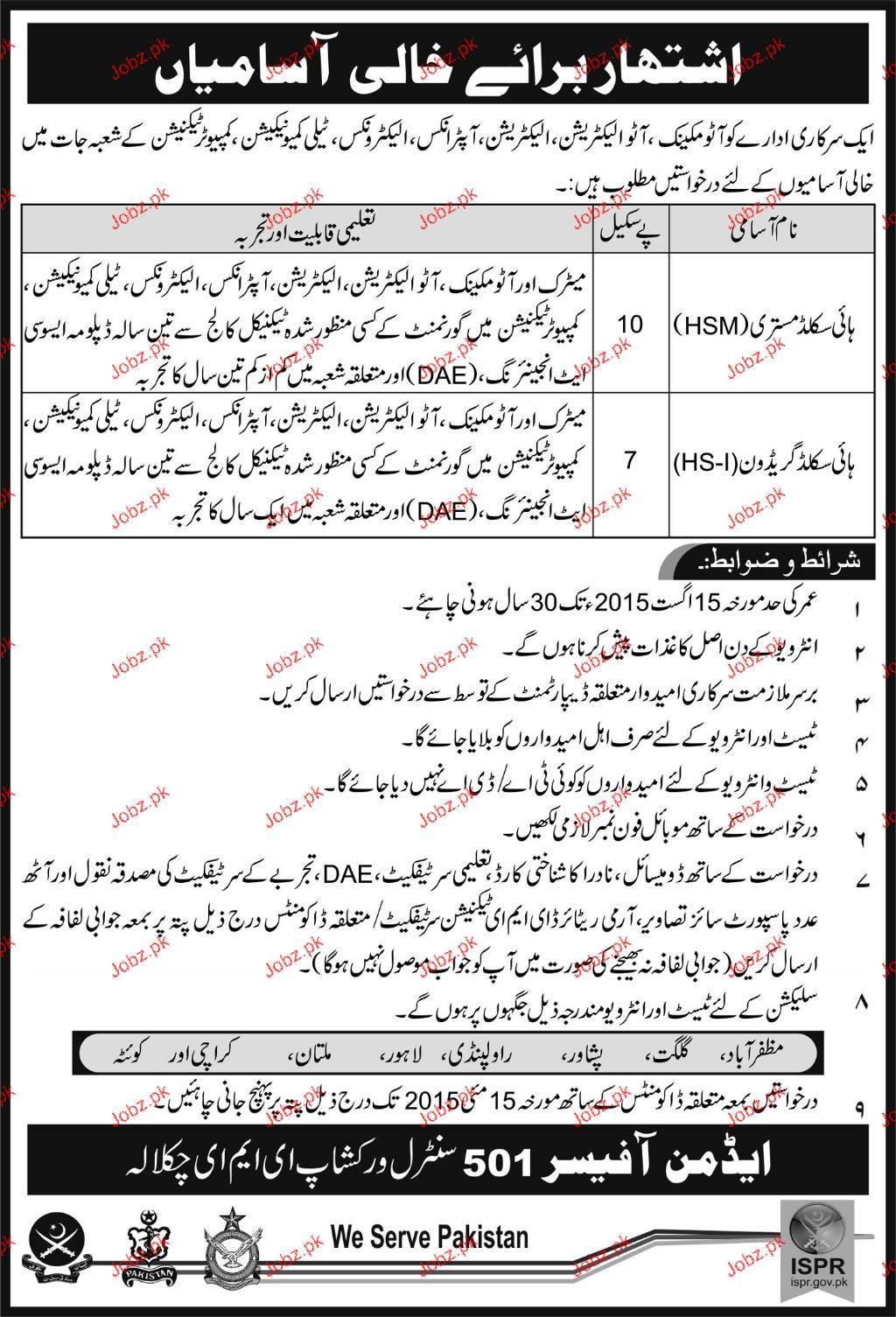 Auto Mechanic Car Job In Lahore