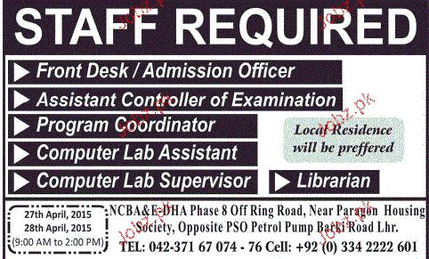 Admission Officer, Program Coordinators Job Opportunity