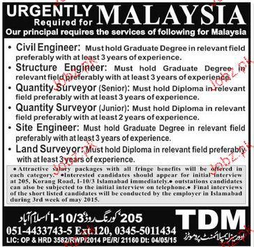 Civil Engineers Structure Engineers Job Opportunity 2020 Job Advertisement Pakistan