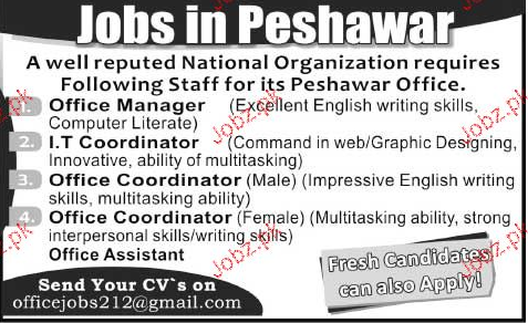 Office Manager, IT Coordinator Job Opportunity