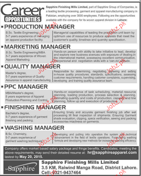 Production Manager, Marketing Manager Job Opportunity