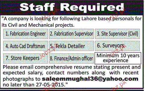 fabrication Engineers, Autocad Draftsman Job Opportunity 2018 Jobs ...