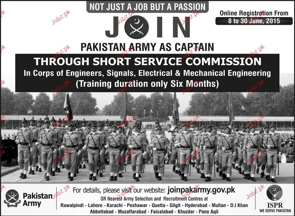 Join Pak Army As Captain Through Commission Service 2019 Job
