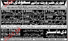 Ductman, Shawal Operators, Mobile Crane Operator Wanted