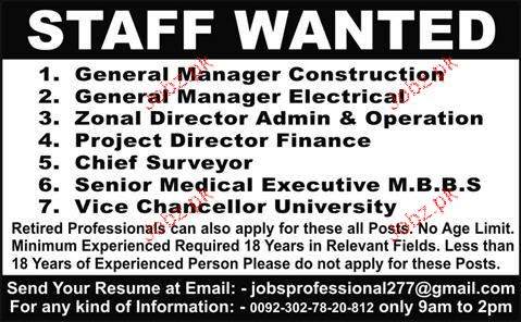 General Manager, Zonal Directors Job Opportunity