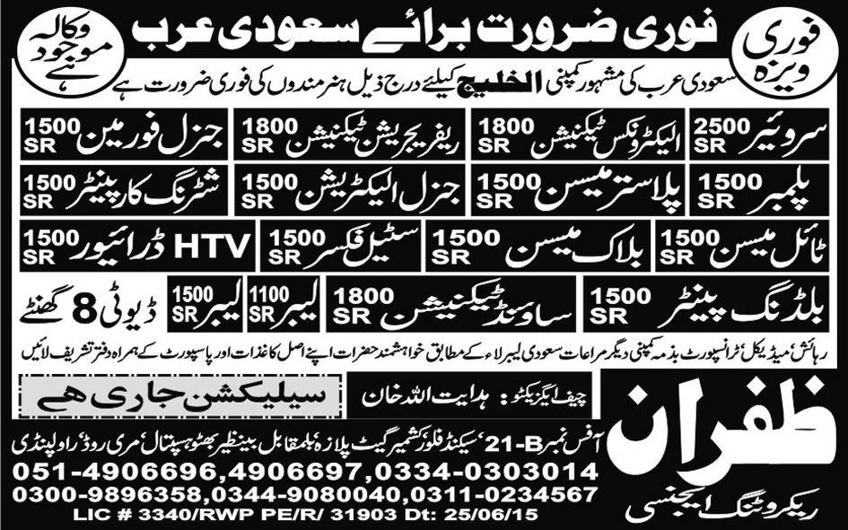 Surveyor, Electronic Technician, Jobs in Saudi Arab