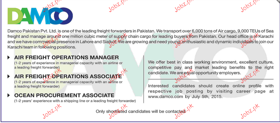 Aircraft Operation Manager, Operation Associates Wanted