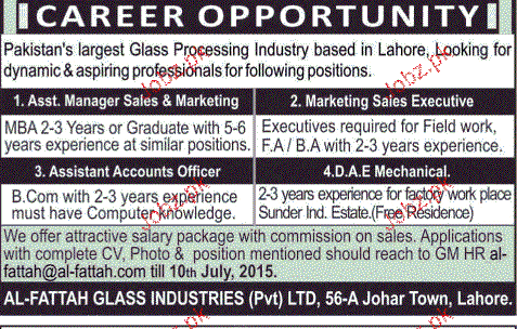 Assistant Manager Sales, Marketing Sales Executive Wanted