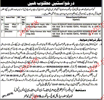 Medical Officer and Chawkidars Job Opportunity