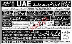 Electricians, Pipe Fiters, Welders, AC Technicians Wanted