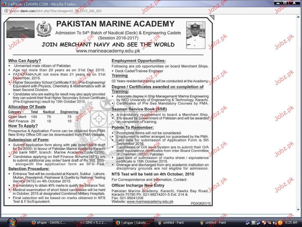 Recruitment in Merchant Navy