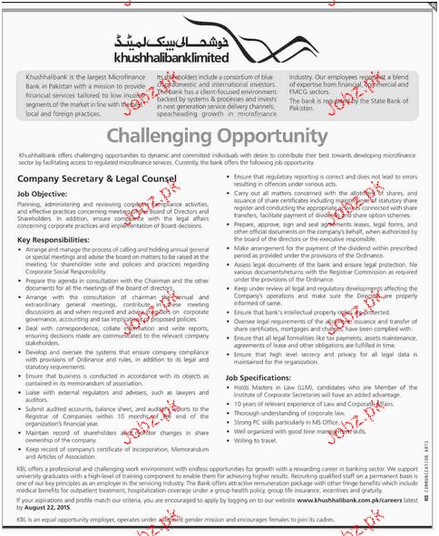 Company Secretary & Legal Counsel Job Opportunity