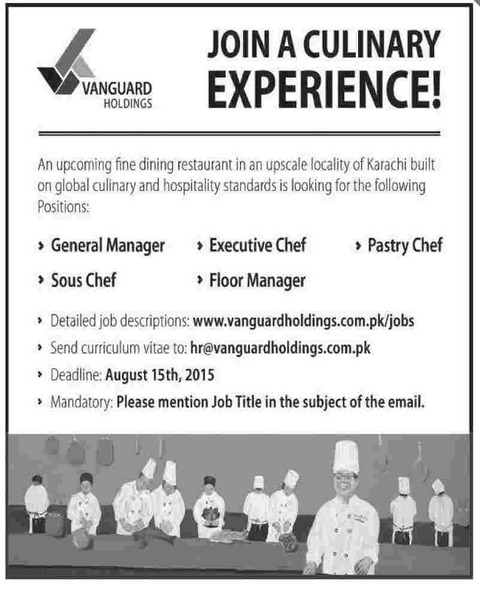 General Manager, Executive Chef, Sous Chef Job Opportunity 2018 Jobs ...