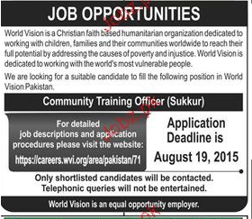 Community Training Officers Job Opportunity