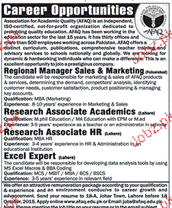 Regional Manager Sales, Research Associates Wanted