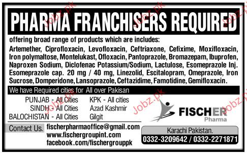 Pharma  Franchisers Job Opportunity