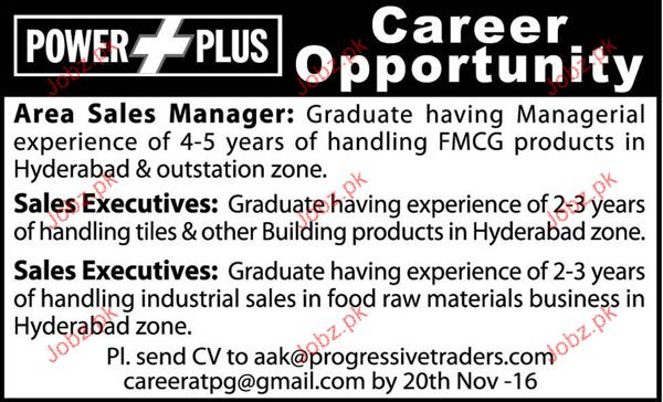 Area Sales Manager, Sales Executives Job Opportunity