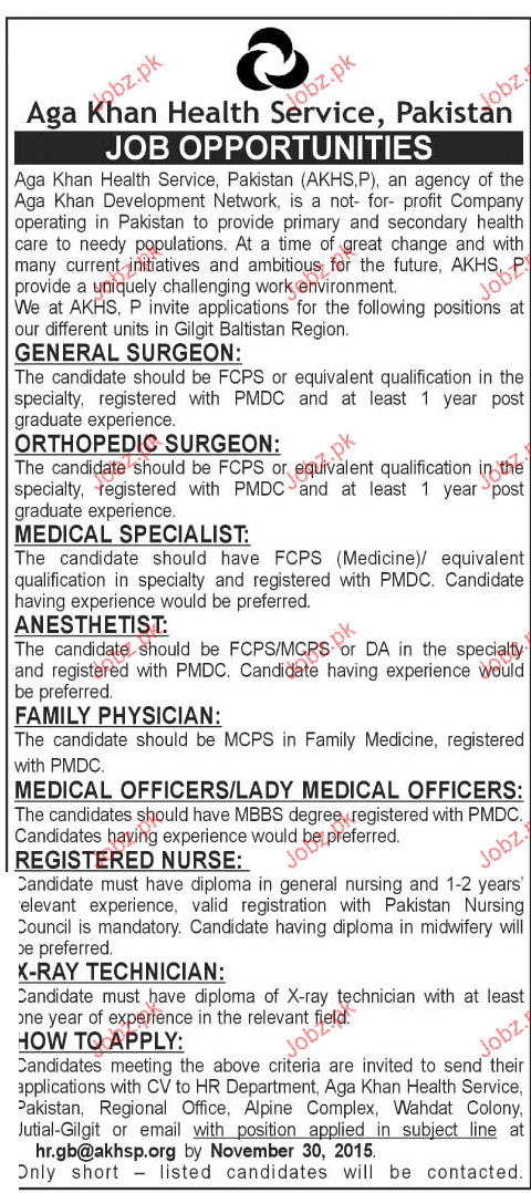 General Surgeons, Medical Specialists Job Opportunity