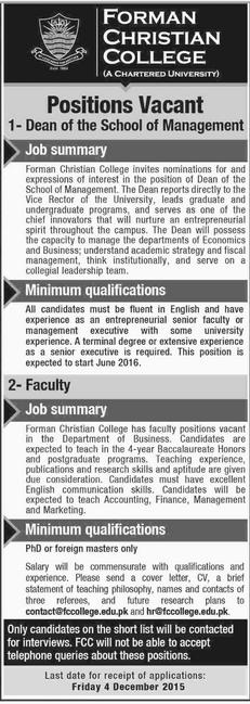 Dean Job of The School of Management